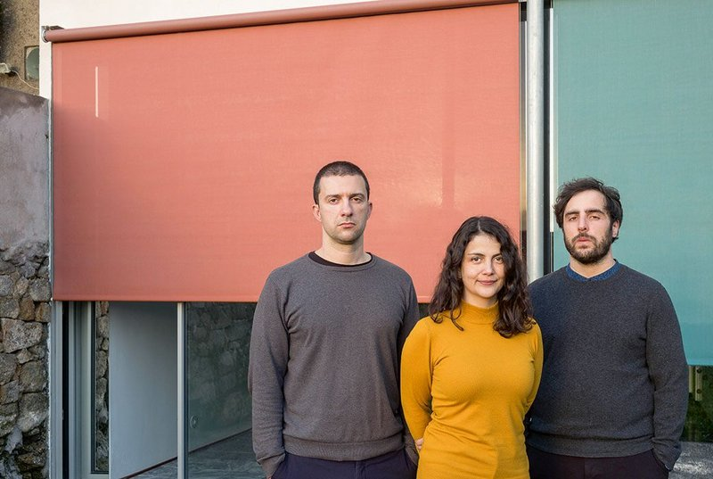 Fala's directors (left to right) Filipe Magalhães, Ana Luisa Soares and Ahmed Belkhodja. The practice started young and now comprises 10 people. Magalhães is the oldest at 33.
