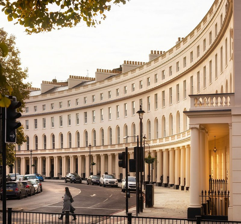 Originally completed in 1820, Regent's Crescent has been rebuilt and returned to residential use by PDP London.