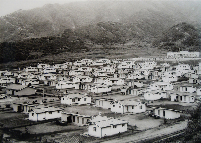 Yugok-ri Unification Village shortly after its completion in 1973.