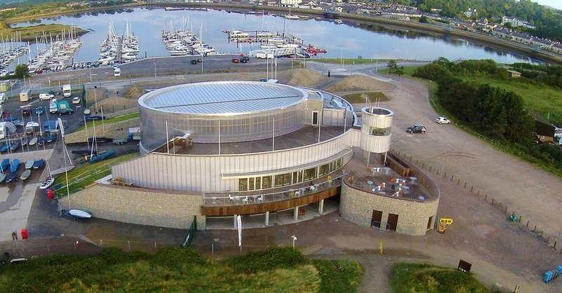 Aerial image of the Welsh National Sailing Academy