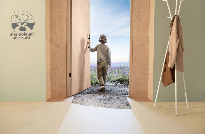 The Marmoleum Live Forward campaign: Designing sustainable floors that are good for people, buildings and the environment.