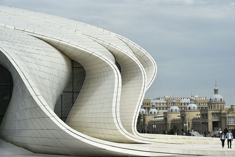 Heydar Aliyev Center, Baku (2013), Zaha Hadid Architects. An illustration of architecture achieved through new technological possibilities unthinkable at the time of Fletchers first edition