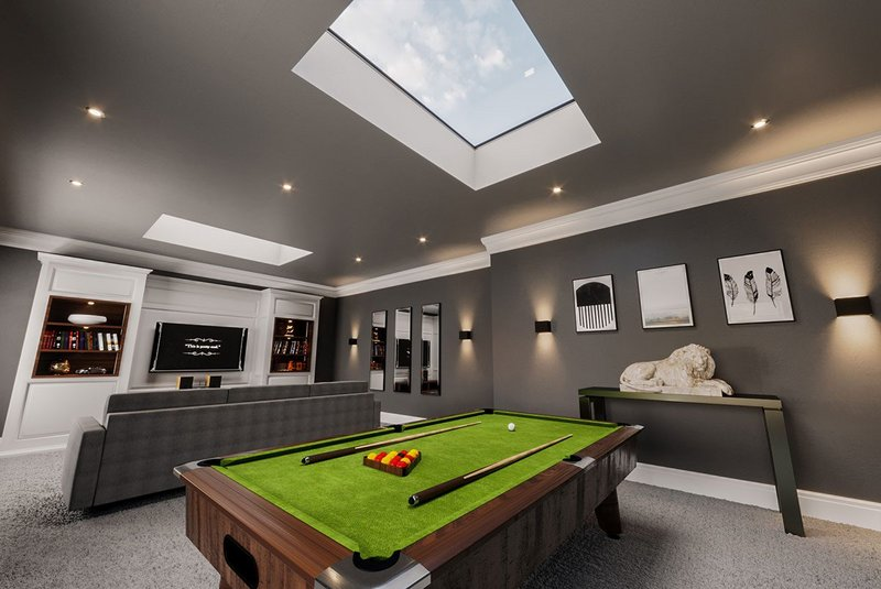 Neo Advance flat rooflight: No unsightly fixings and a concealed motor mean clean, contemporary lines.