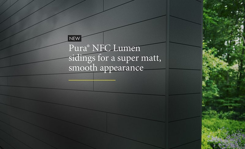Pura NFC by Trespa adds two eye-catching Lumen decors for facades that stand out.