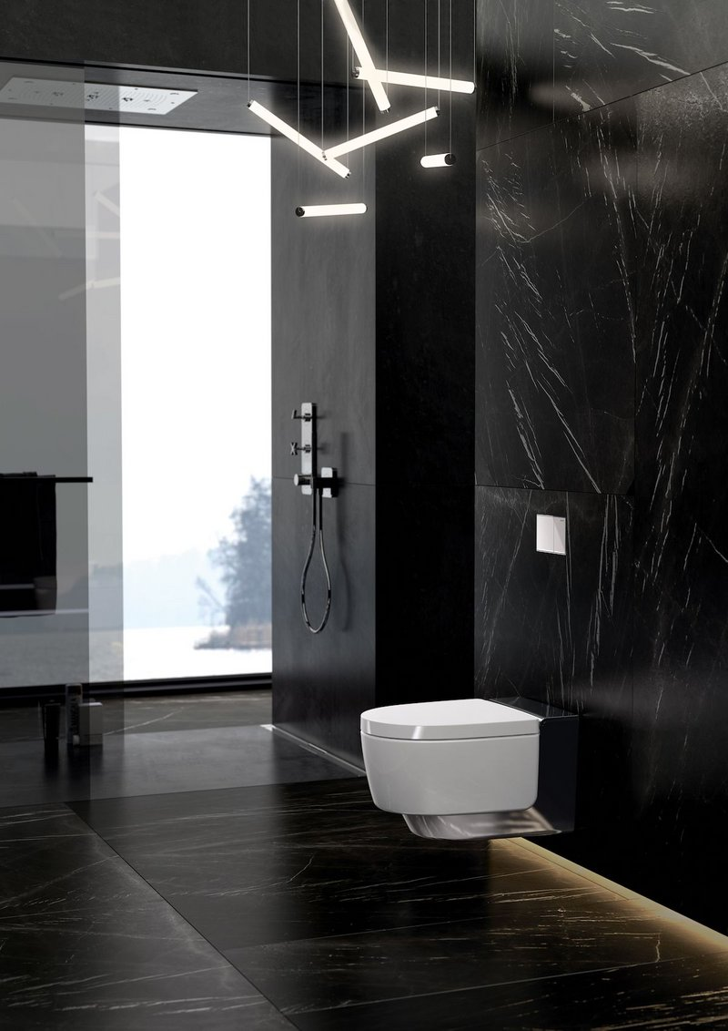 The Geberit AquaClean Mera gives the impression of floating in front of the wall.