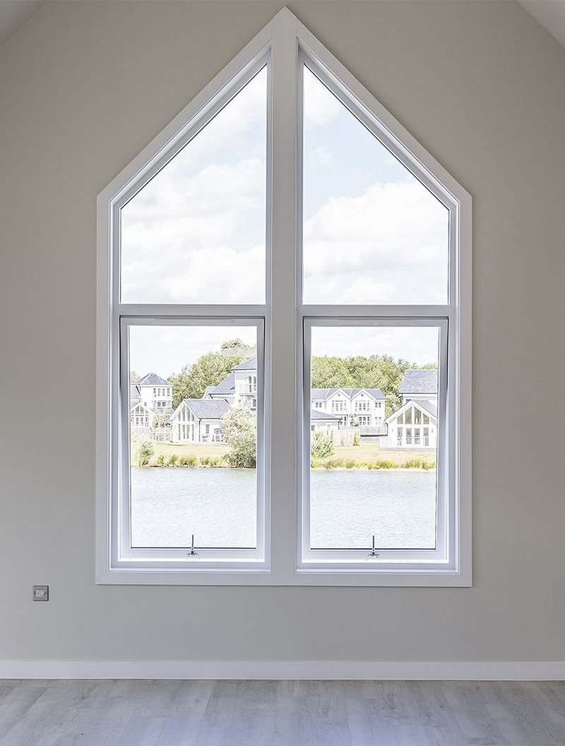Contemporary-style Modus flush sash casement