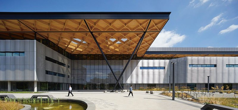 You certainly know where the entrance is – the NAIC's roof extends into a full-height porch.