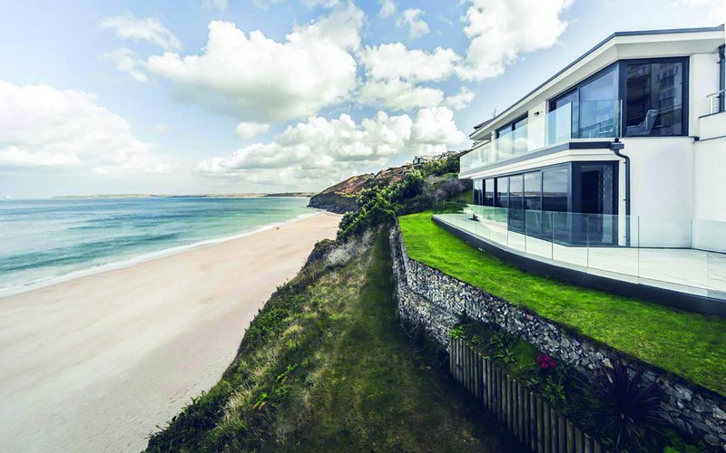 Laurence Associates' The Beach House at Carbis Bay, near St Ives, Cornwall.