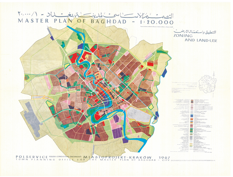 Master Plan of Baghdad, Iraq, by Miastoprojekt-Kraków (Poland), 1967.