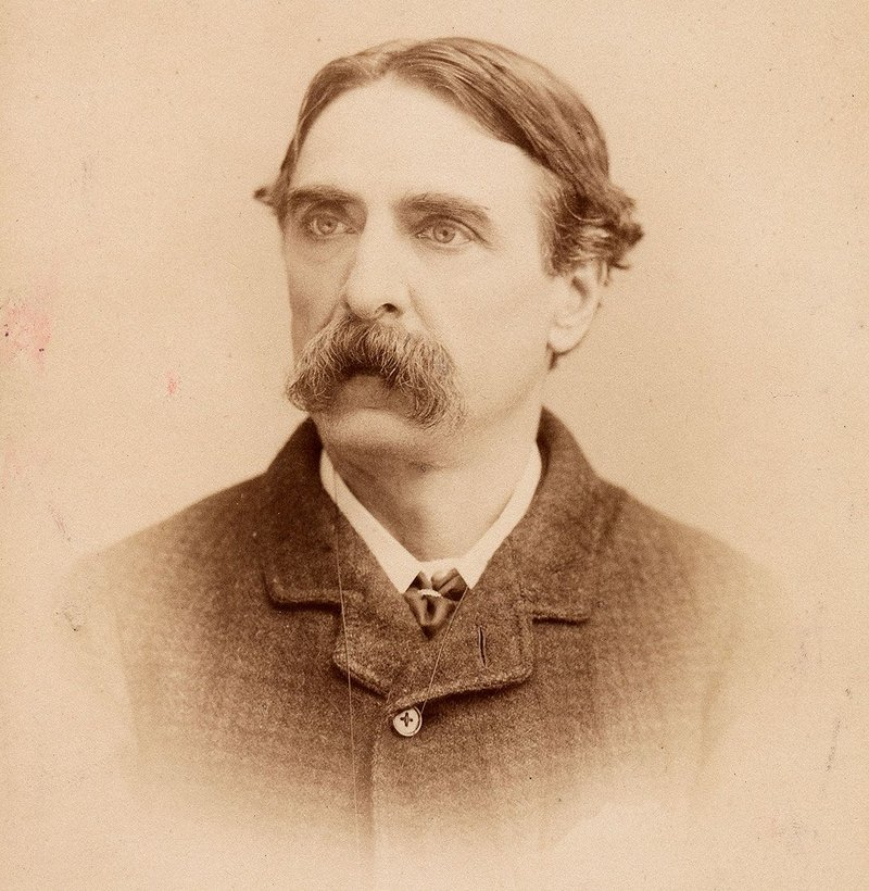 Basil Champneys as photographed in 1894.