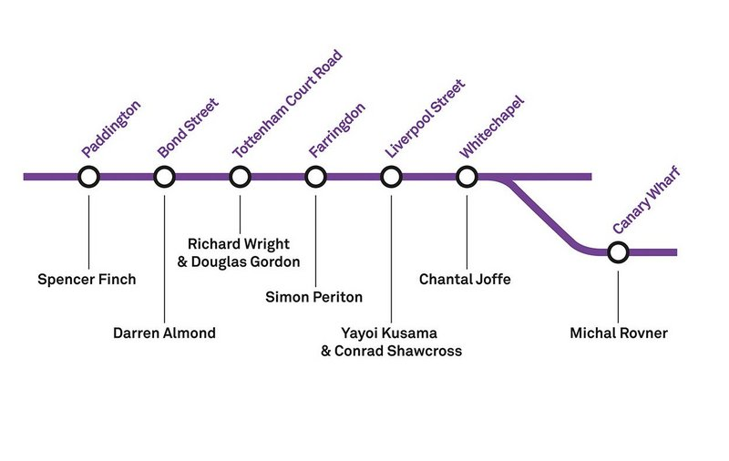 Graphic from Art Capital: Art for the Elizabeth line, Whitechapel Gallery, London, 2018.