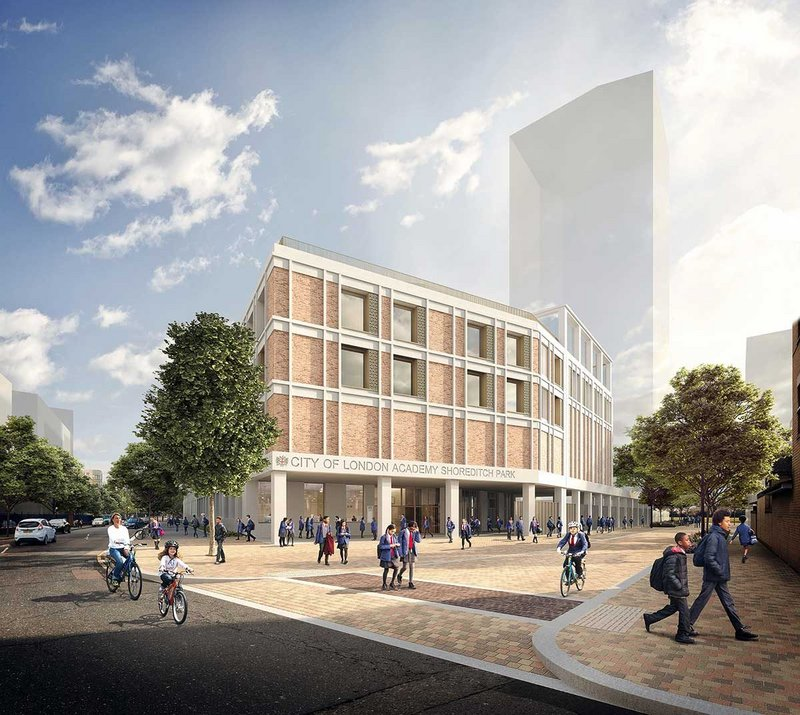 FCBS' City of London Academy Shoreditch Park, part of the Brittania Project masterplan, champions the idea of the low-traffic 'school street'.