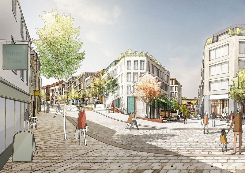 PRP's Pydar St intergenerational living proposal in Truro, Cornwall, for the city council's development arm Treveth.