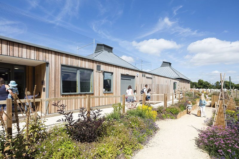 Velfac doors and windows at Seaton Jurassic visitor centre in Devon.