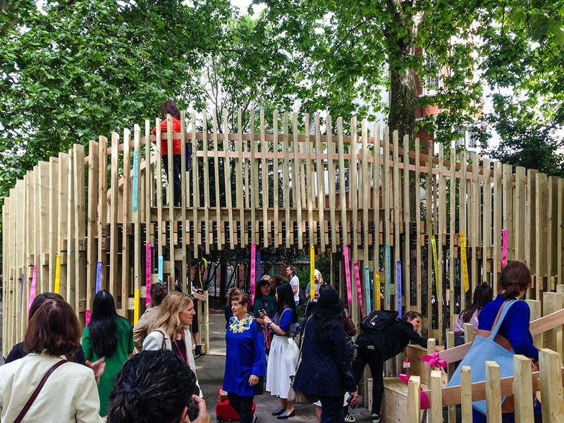 The Next Generation Pavilion at Clerkenwell Design Week 2017 brought children from all backgrounds together to experience making architecture.