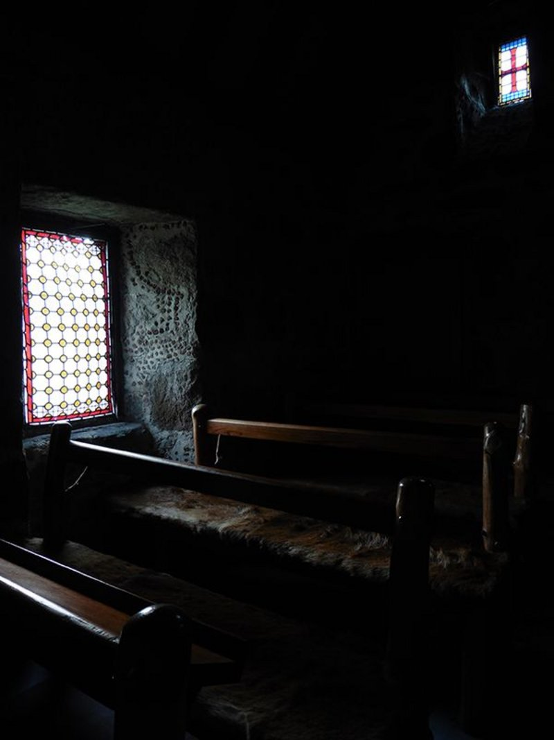 The dimly-lit interior of Truefitt's Chapel of St Lesmo and the tactile raw materials like the deerskin, rough-faced granite and unsawn pine all contribute to the creation of an atmospheric ambience that echoes the quality of the works of Lewerentz or Van der Laan of the 20th century. Truefitt had left behind the superficial stylistic obsession of his time and ventured into a new realm.