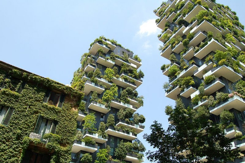 Boeri Studio's Il Bosco Verticale, Milan: contributing to the regeneration of the environment and urban biodiversity without expanding the territory of the city.