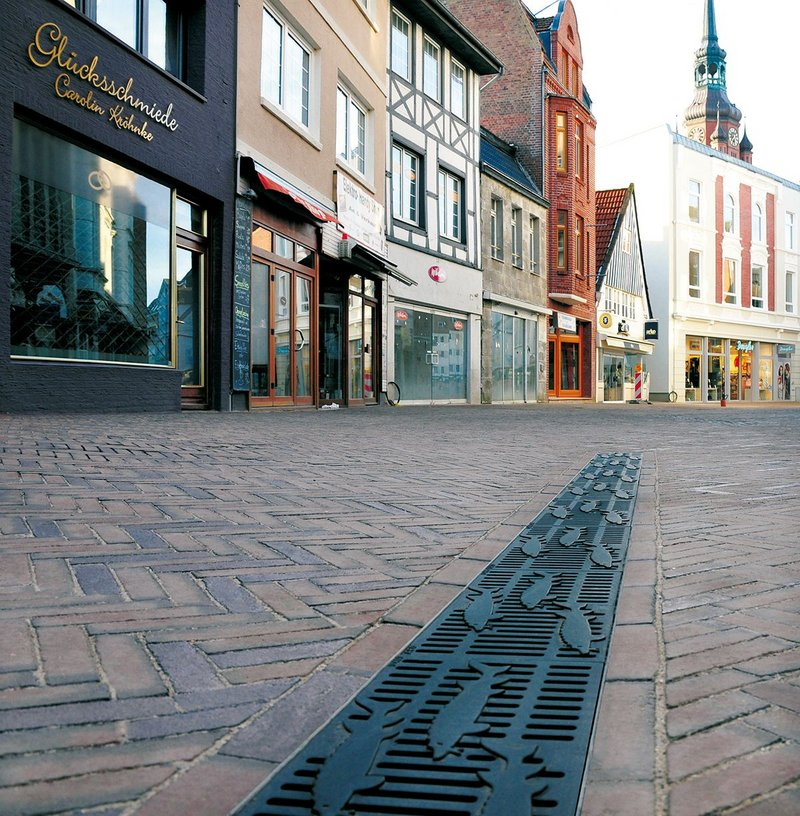 Pedestrian zone, Itzehoe, Germany. The town is a mix of old-fashioned charm and one of Germany's leading tech hubs