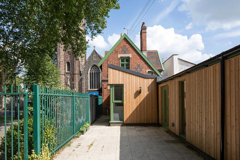 Refuge extends old lodge. Credit Alex Campbell
