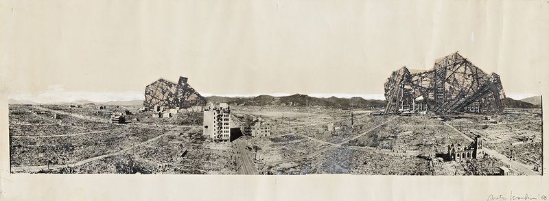 Photomural– Reruined Hiroshima, project by Arata Isozaki.
