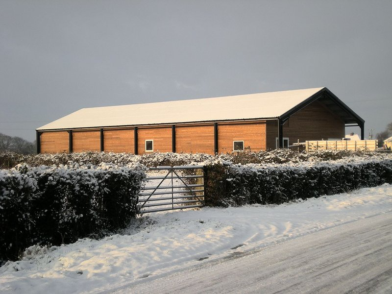 The completed Burtle village hall was initiated and self-built by local people.