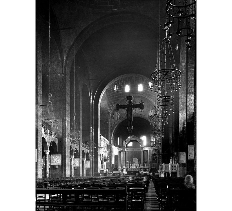 The magnificent Piranesian interior of the cathedral photographed in 1953 by Reginald Hugo de Burgh Galwey.