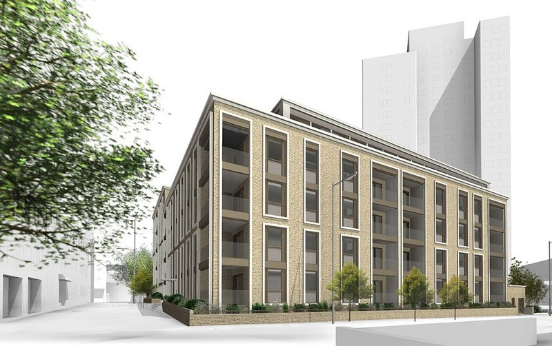 Parsons North by David Miller Architects: a development of 60 apartments for the City of Westminster on the Edgware Road, which has just been submitted for  planning.