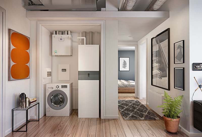 GDHV's Zeroth Energy System responds to the need for a new, highly efficient communal solution for residential apartments.