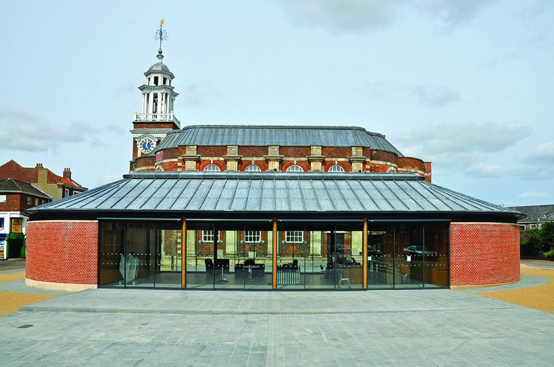 New meets old: the baroque theatre now has the front-of-house café it needed.