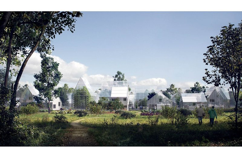 Eco village, a project by Effekt for a rural community at Almere in The Netherlands, embraces high yield organic food production.