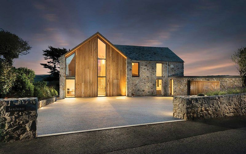 Laurence Associates' Sand Dunes private house project at Cubert, near Newquay, Cornwall.