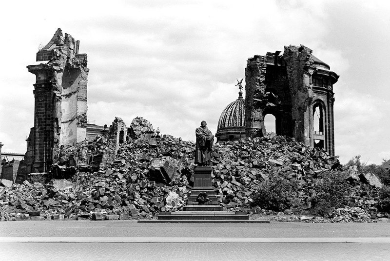 Ruin of the Frauenkirche, Dresden, 1970, from What Remains at the Imperial War Museum London.