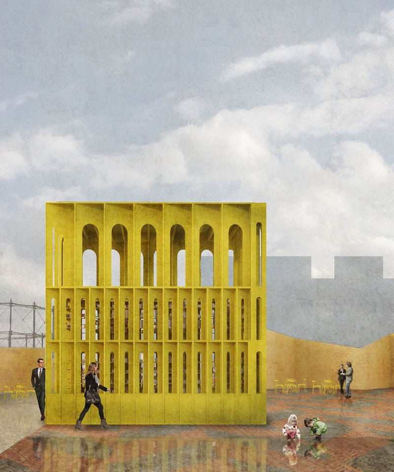 Country focus on Ireland brings London  the Yellow Pavilion designed by Hall McKnight Architects