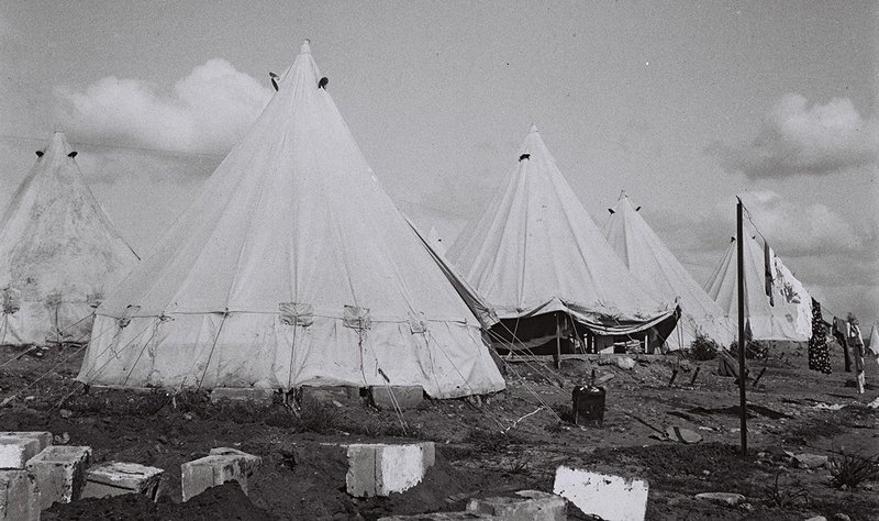 Camps, even this Kibbutz Givat Brenner, 1935, suspend their inhabitants without the possibility of planning the future.