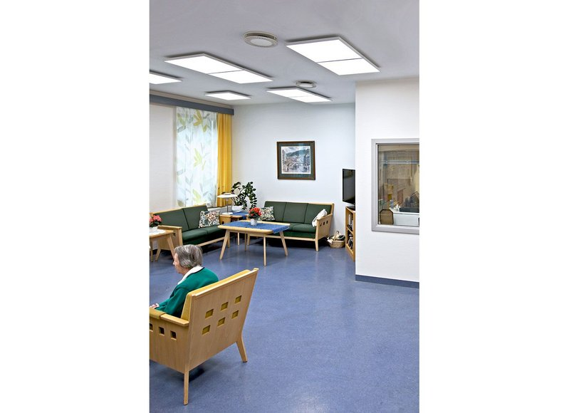 The Glamox luminaires have been installed in eight dementia care homes to properly monitor the effects of the extended daylight component on patients' wellbeing.
