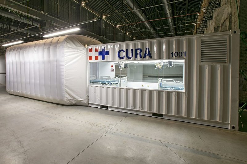The first CURA pod unit installed in Turin, northern Italy.