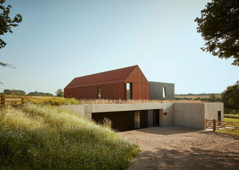 Yorkshire region winner: Barrow House in the Lincolnshire Wolds  by ID Architecture.