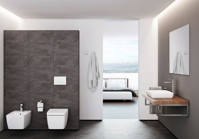VitrA M-Line bathroom with RIM-EX WC