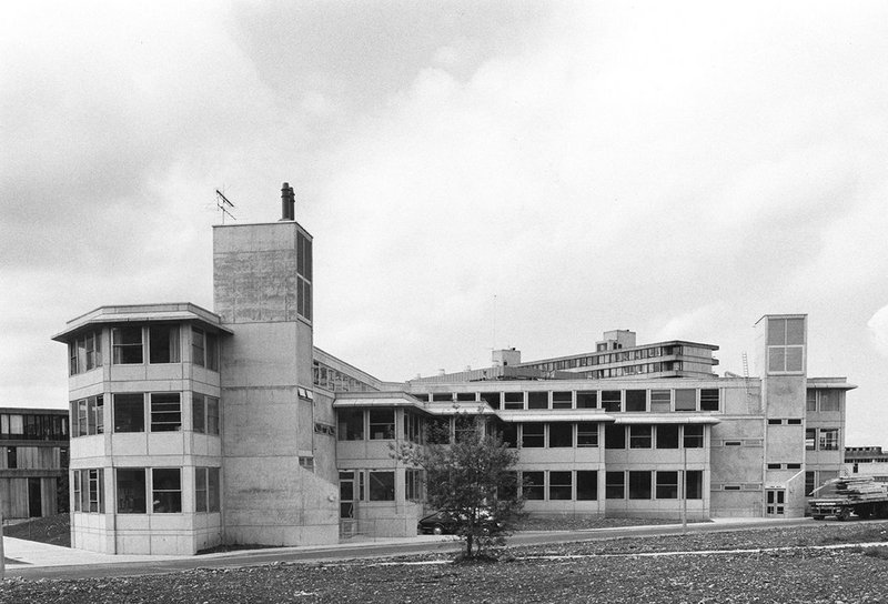 Alison and Peter Smithson's second arts building at the University of Bath.
