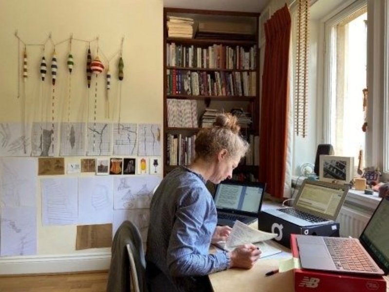 Kate Cheyne in her home office. Having joined De Montfort University in February as head of school, she has spent the majority of her time there working remotely.
