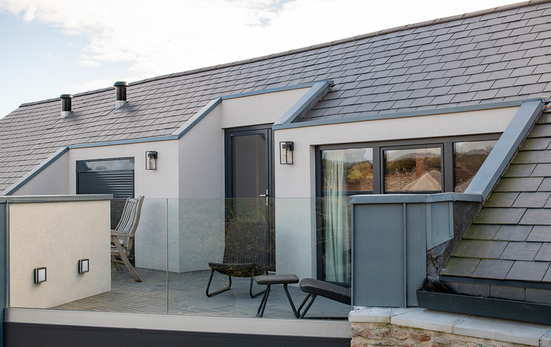 Thermoslate at Southover: The Cupa Pizarras roof solar collector is the only solar system to use the properties of natural slate to convert sunlight to energy to produce hot water and home or pool heating.