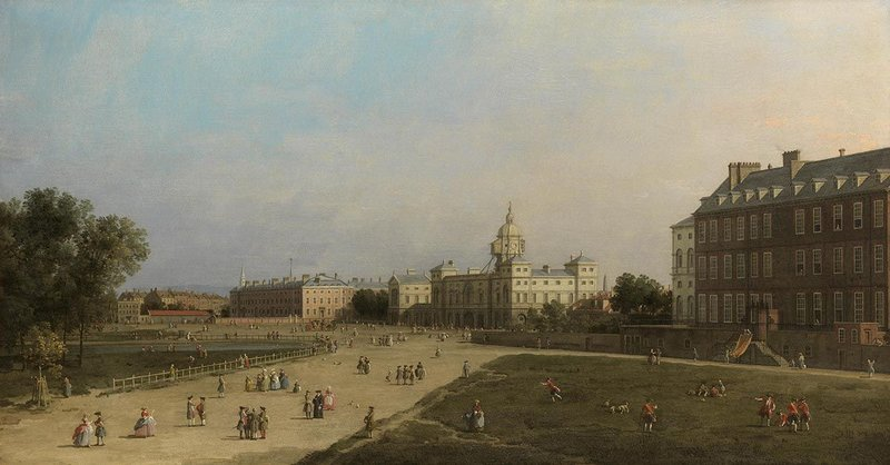 London growing up: Canaletto's painting The New Horse Guards from St James's Park.