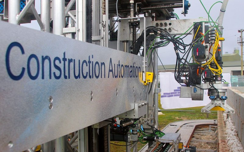 The latest version of Construction Automation's machine features better sensors and a more robust track.