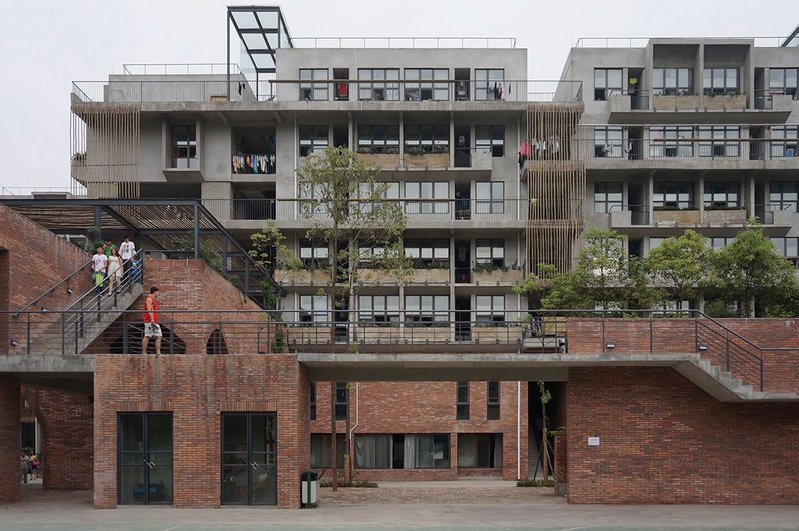 Polus International College Students Apartment, Chengdu, 2014. Photo by Dong Mei. © Courtesy of BCKJ Architects