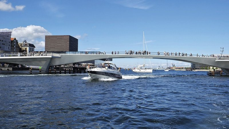 The Inner Harbour Bridge now connects two historically separated sides of Copenhagen.
