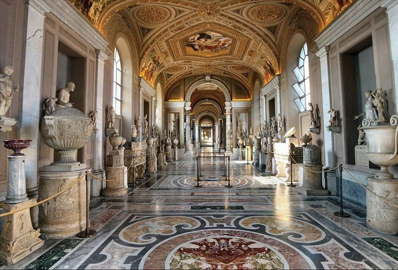The Vatican Museum's halls.