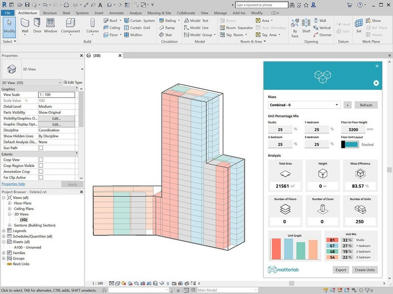 Users can drop the plug-in into their Revit workflow without having to access a separate interface.