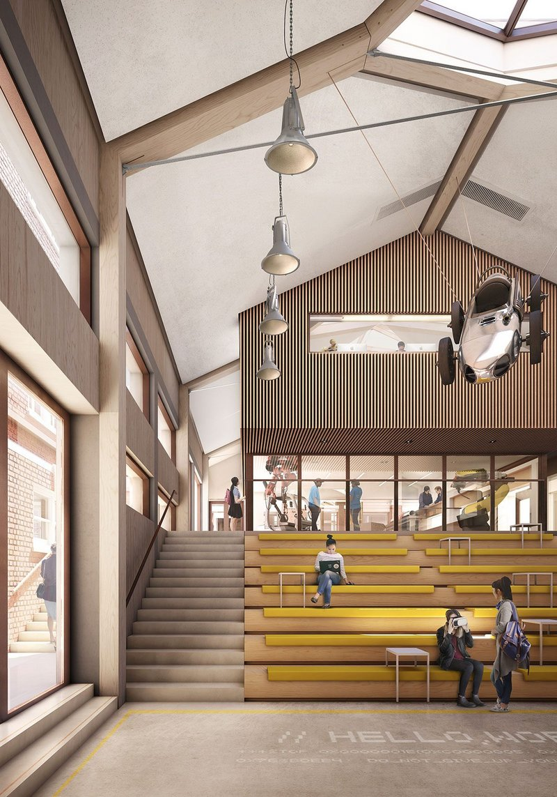 St. Paul's Girls' School - Innovation Centre incorporates a variety of spaces for collaborative project-based learning.