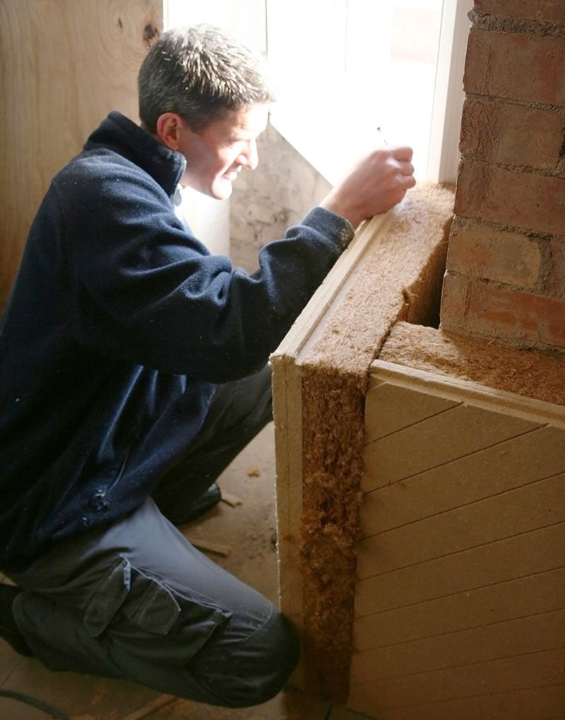 A project involving the installation of solid wall insulation: this element was reduced rated as an energy saving material.
