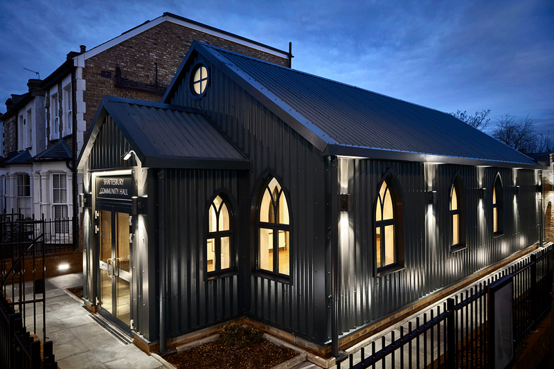 Recalling the old Tin Tabernacle, a new community and Samaritans centre. Credit Dan Glasser Photography